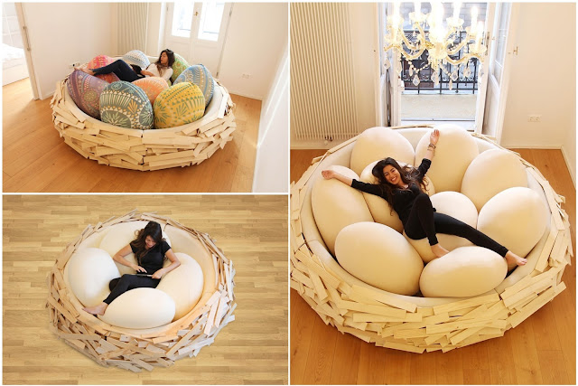The Giant Bird's Nest Makes Your Rest Leisurely