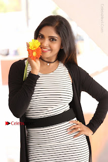 Telugu Actress Karunya Chowdary Stills in Black Dress at Soda Goli Soda Movie Opening  0114.JPG
