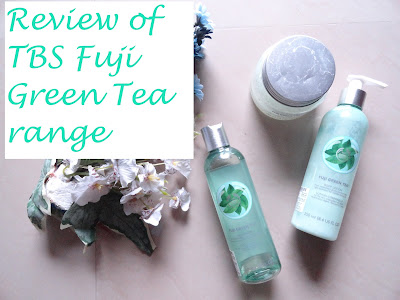REVIEW: The Body Shop Fuji Green Tea Shower gel, Lotion and Body Scrub image