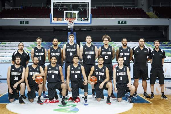New Zealand Men's Basketball Team Line-up (Roster). Image courtesy of FIBA.com