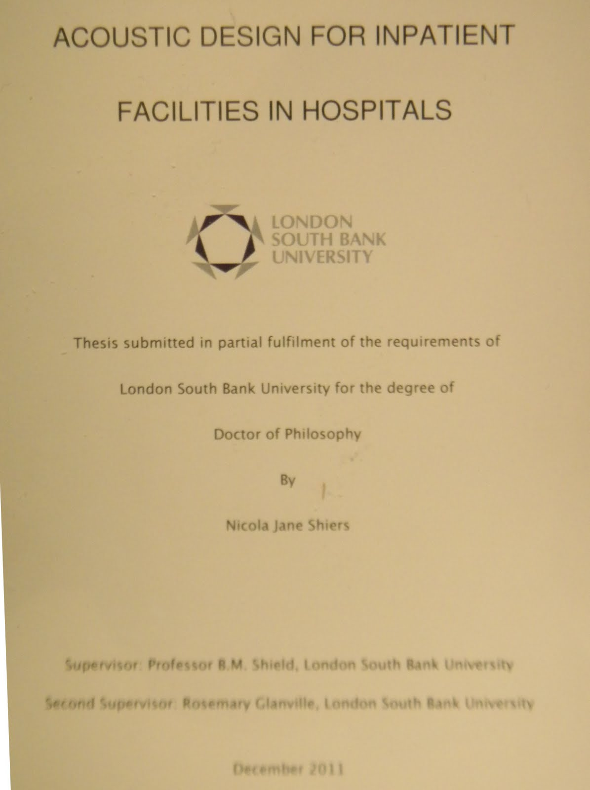 Phd thesis of university of london