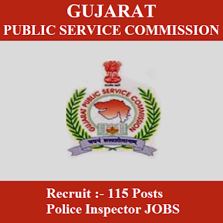 Gujarat Public Service Commission, GPSC, PSC, Gujarat, Police Inspector, Graduation, freejobalert, Sarkari Naukri, Latest Jobs, gpsc logo