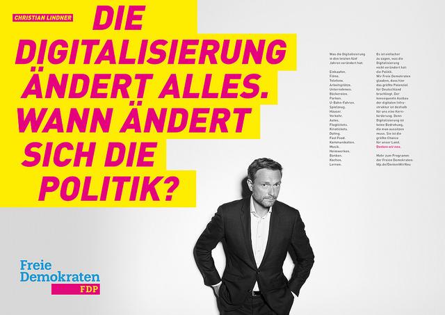 FDP Wahlplakat, FDP Wahlprogramm, Bundestagswahl 2017, Blogger für BTW, Blogger Kolumne Wahlen