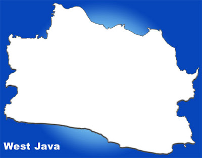 image: West Java Blank map