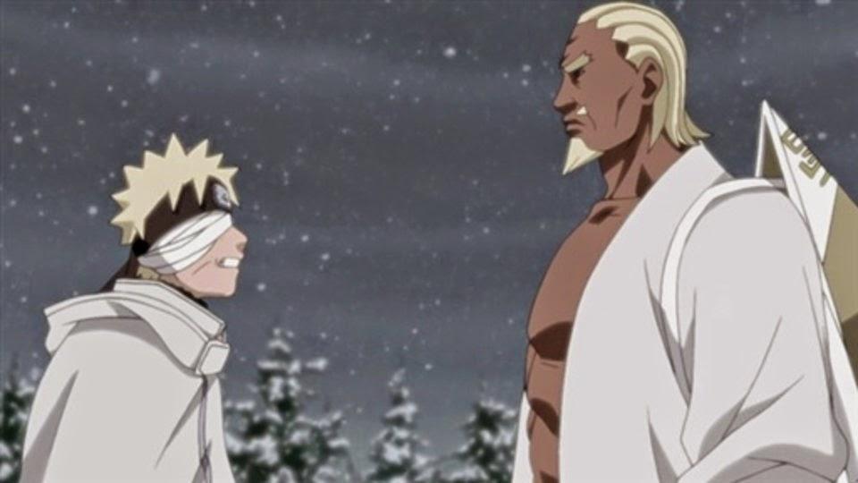 Naruto habla con el Raikage