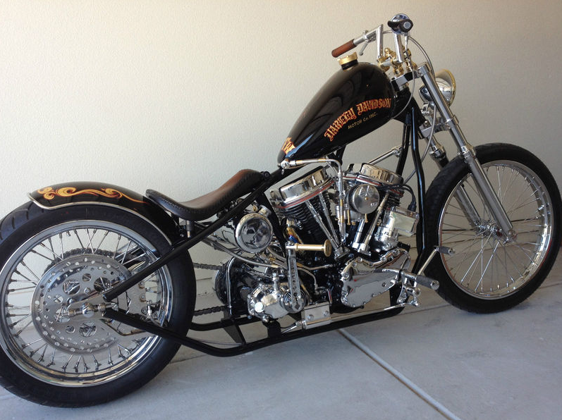 1960 Harley Davidson FLH Panhead Chopper For Sale - Rusty ...