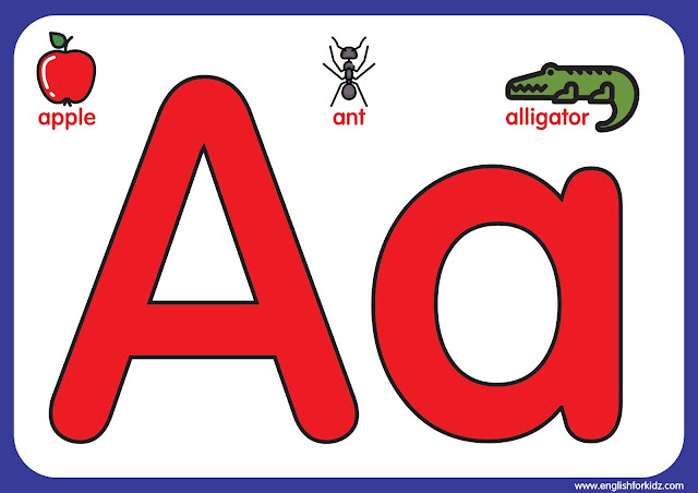Letter a - big printable alphabet letters