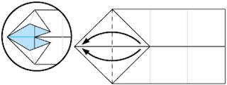 Bước 6: Gấp lớp trên tờ giấy từ phải sang trái