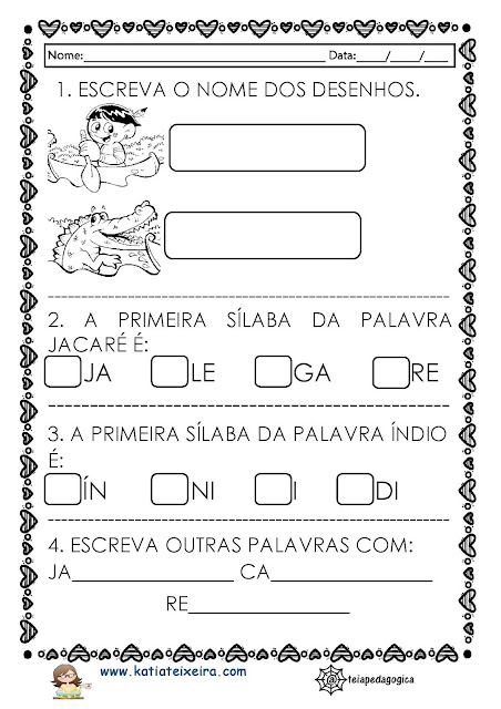 ATIVIDADES%2BINDIOZINHOS-page-002 Atividades de Matemática e Português 1º ano Texto Os indiozinhos