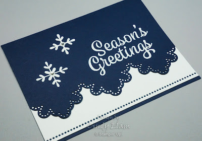 Snowflake Sentiments, Season's Greetings, Christmas Card, Stampin' Up!