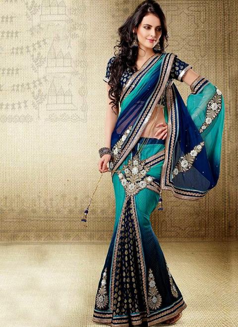 foto model baju sari india