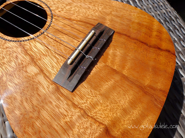 Pono ATDC Tenor Ukulele bridge