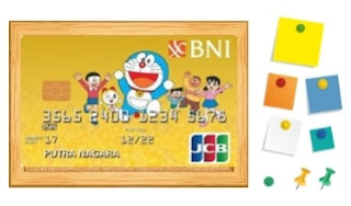 design Kartu Kredit BNI JCB Gold Doraemon