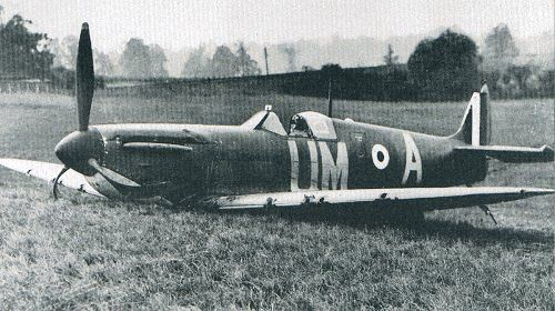 25 September 1940 worldwartwo.filminspector.com Spitfire Mk. 1 crashed