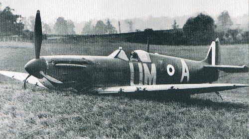 25 September 1940 worldwartwo.filminspector.com Spitfire Mk. 1 crashed