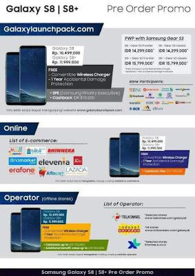 PreOrder Samsung Galaxy S8 dan S8+ Plus