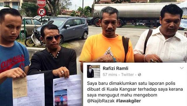 Rafizi Ugut 'Bom' Najib, 4 'Orang Kuale' Buat Laporan Polis