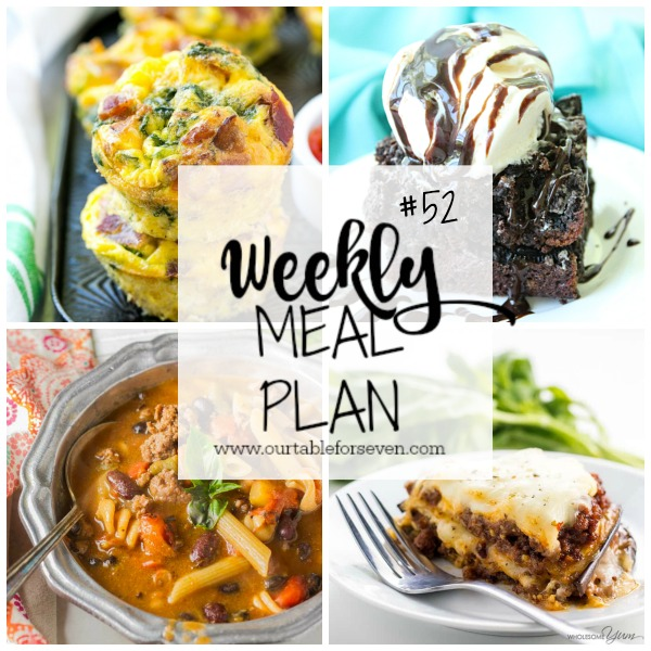 Weekly Meal Plan from Table for Seven