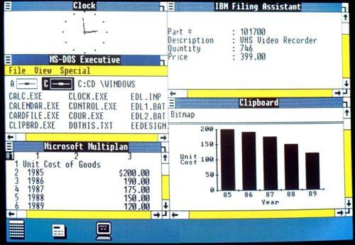 historia de windows 1 hasta 10