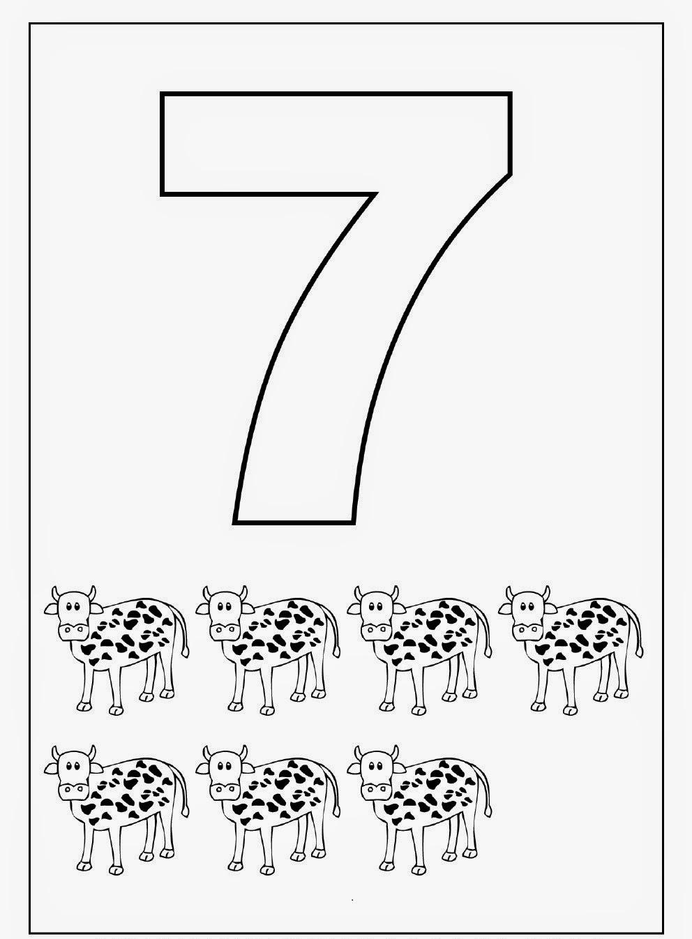 Kindergarten Worksheets: Coloring Worksheets - Maths 1-10