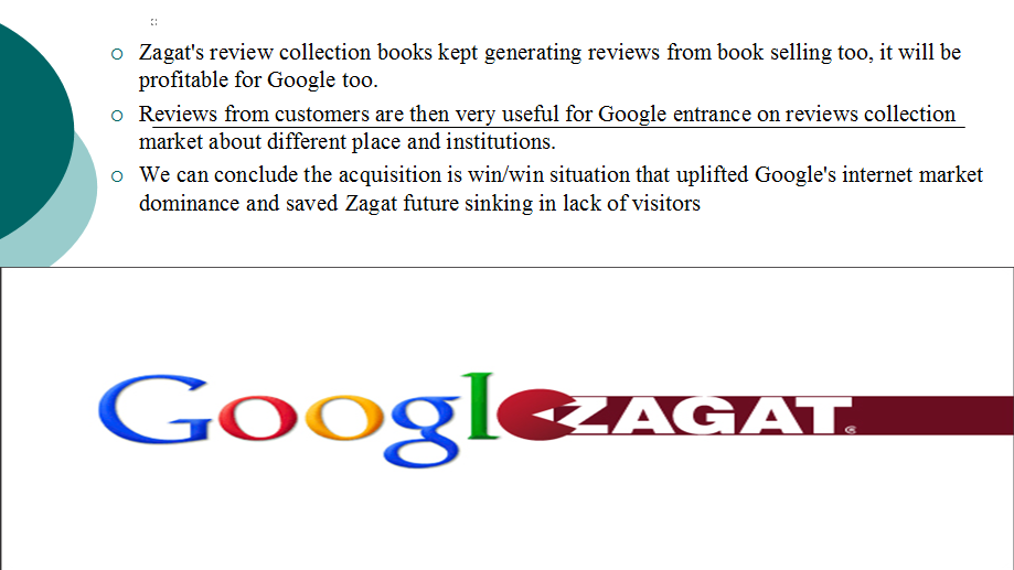 to pay or not to pay zagat s dilemma The secret's out about how much google paid to bring a trusted reviewer in house the majority of the price, $102 million, was chalked up to goodwill, while the remainder went toward zagat's trade name ($37 million), customer relationships ($11 million) and patents and technology ($2 million.