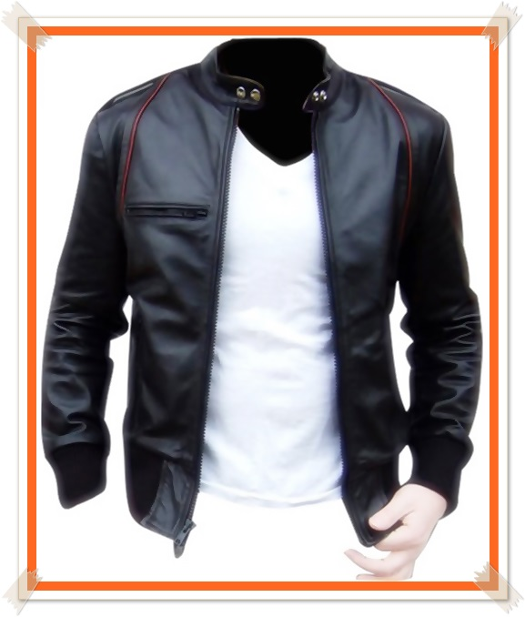 gambar jaket kulit pria keren