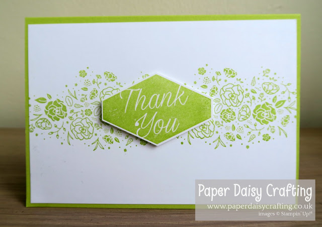 Wood words thank you Stampin Up