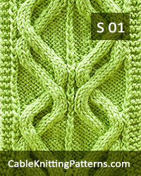 How to knit the Double Waves cable scarf -Free Pattern 01.