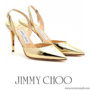 Queen Maxima wore Jimmy Choo Tilly Metallic-Pumps