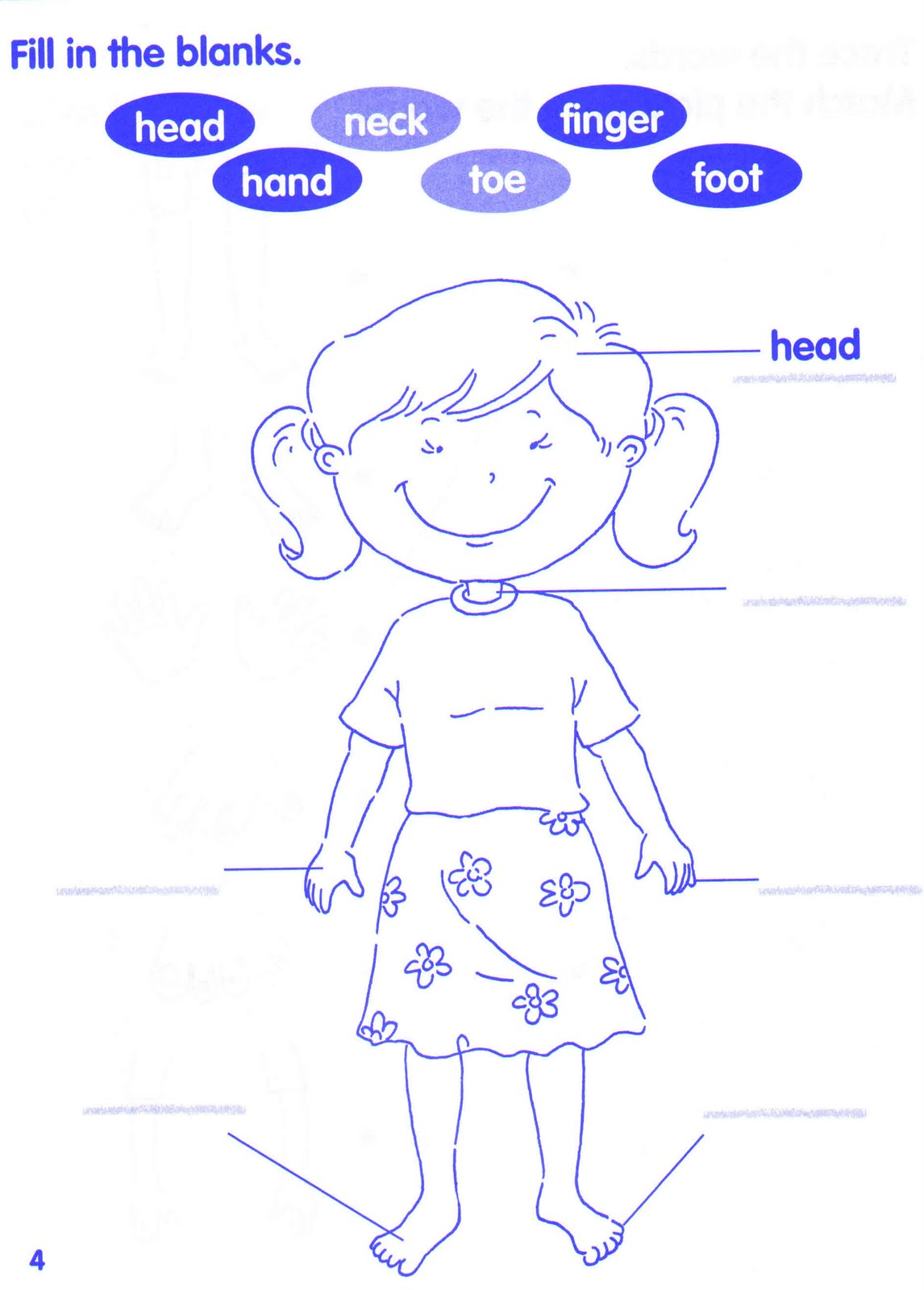 Parts Of Body Esl Worksheet