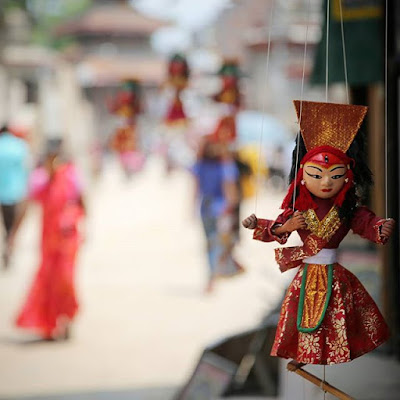 Títere de Kumari en Katmandú