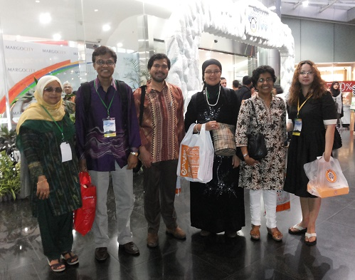 With Fellow Colleagues at the 8th MIB-2013, Indonesia