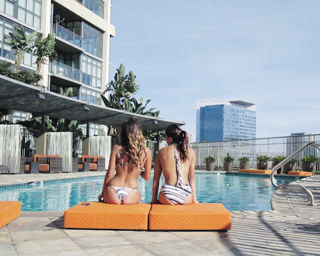 girls' pool day, Irvine, day by the pool ideas
