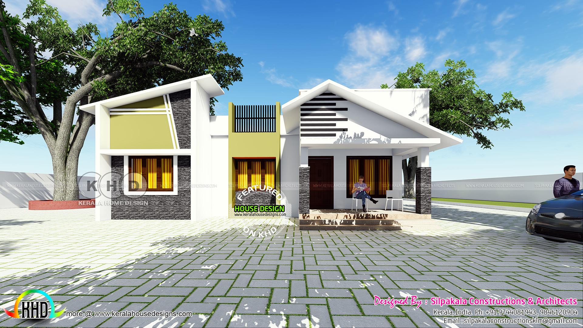 Single Floor Modern Slope Residence By Silpakala Constructions Kerala Home Design Bloglovin
