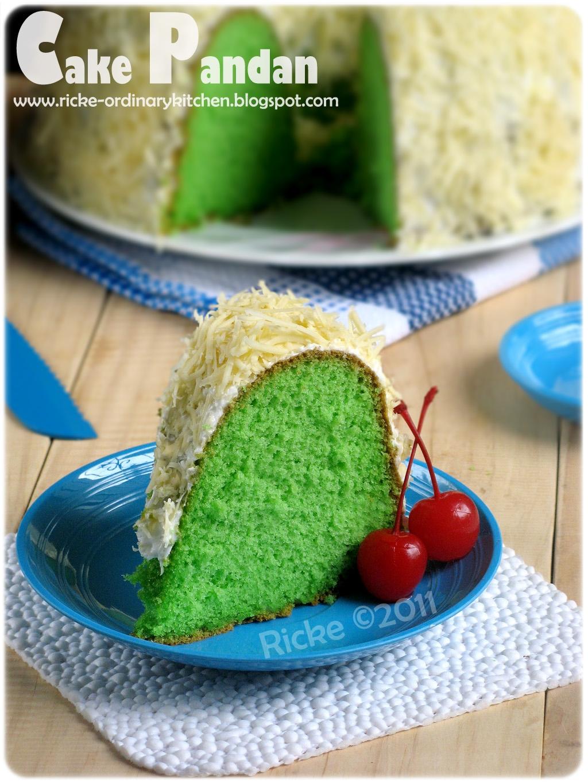 Just My Ordinary Kitchen Cake Pandan