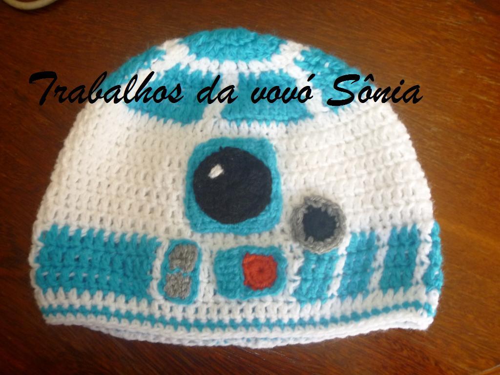 Gorro feminino Star Wars - R2-d2 - crochê bd7e4ead84b