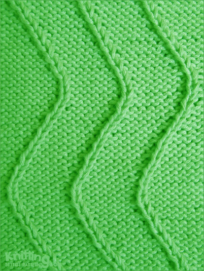 Twist-Stitch Waves   |  All you need to know is how to knit, purl, right twist and left twist.