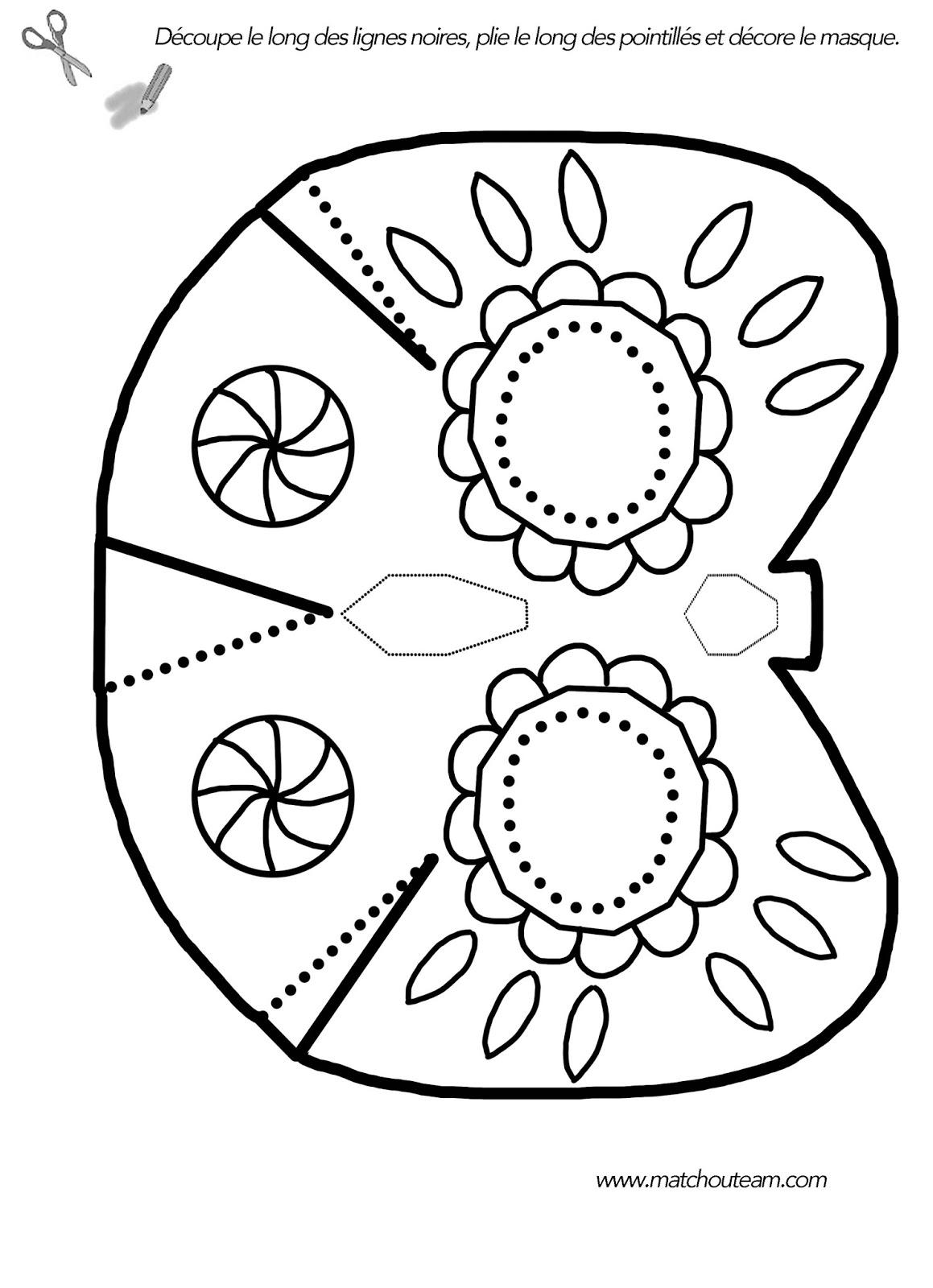 masque à imprimer colorier