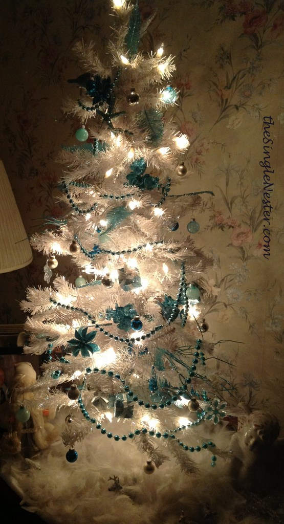 My Turquoise White and Silver Christmas Trees