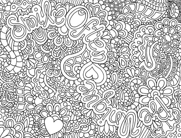 Hard Flower Coloring Pages For Girls  And Up