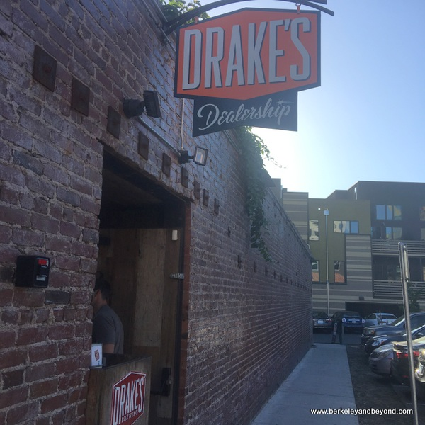 exterior entrance to Drake's Dealership in Oakland, California