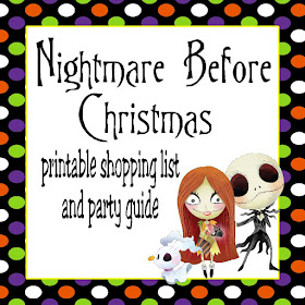Diy Party Mom Nightmare Before Christmas Party Guide Printable Shopping List