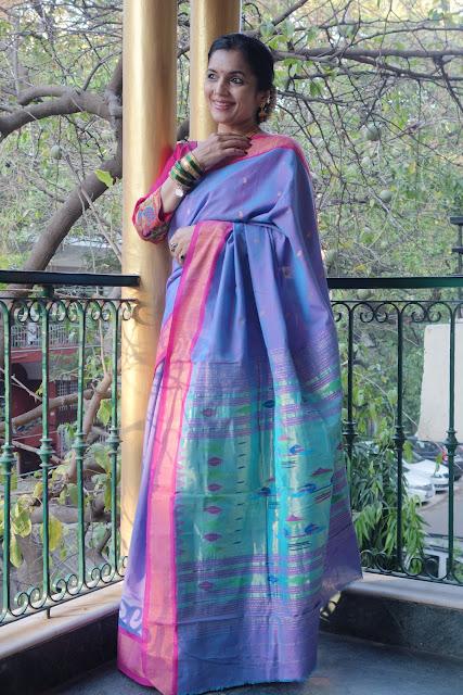 cotton paithani saree
