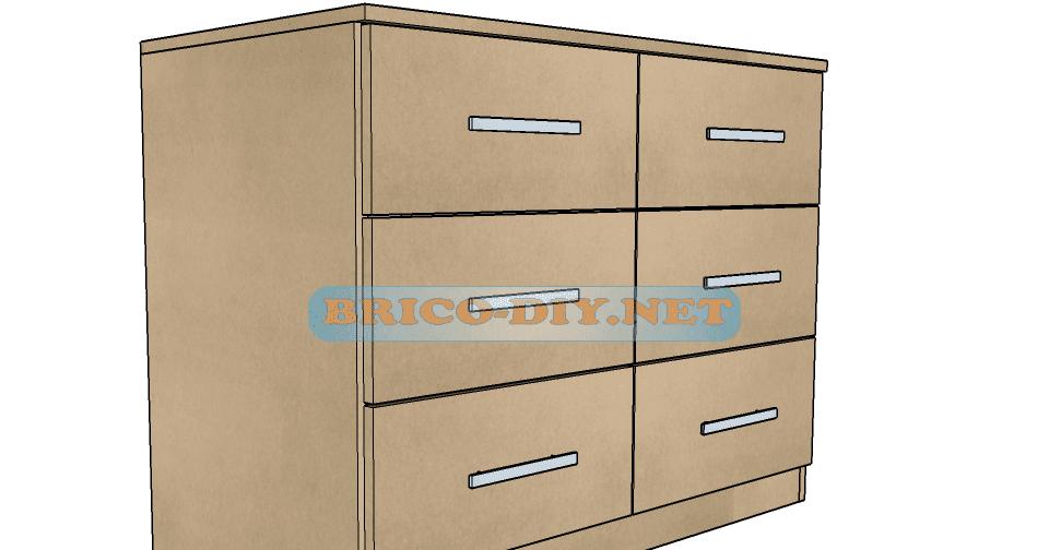 Plano y medidas como hacer una comoda con gavetas de mdf for Curso diseno de muebles