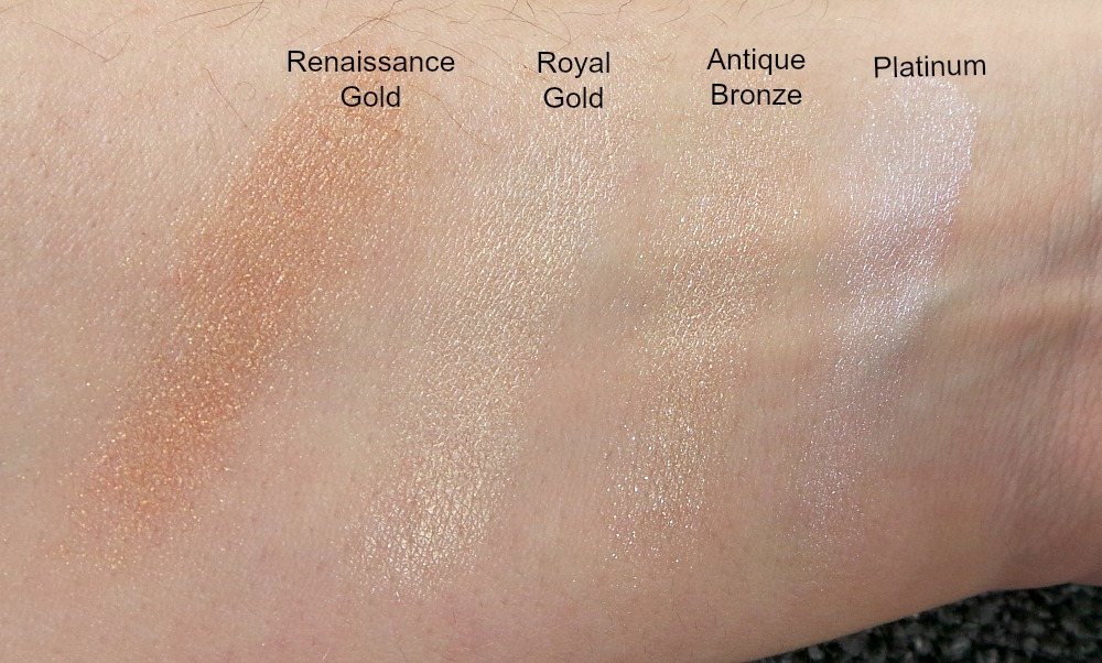 Sleek Precious Metals Highlighter swatches