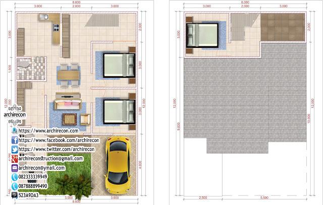 desain renovasi rumah islami - denah