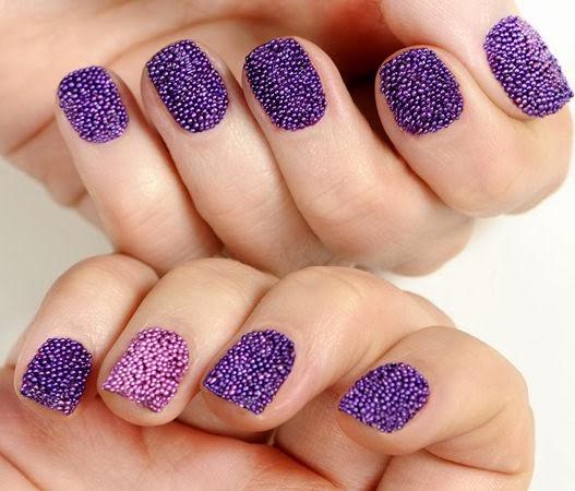 Uñas Manos Y Pies Manicure Efecto Caviar Decoracion De Uñas Con