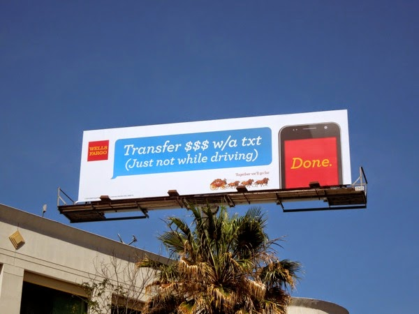 Wells Fargo mobile banking billboard