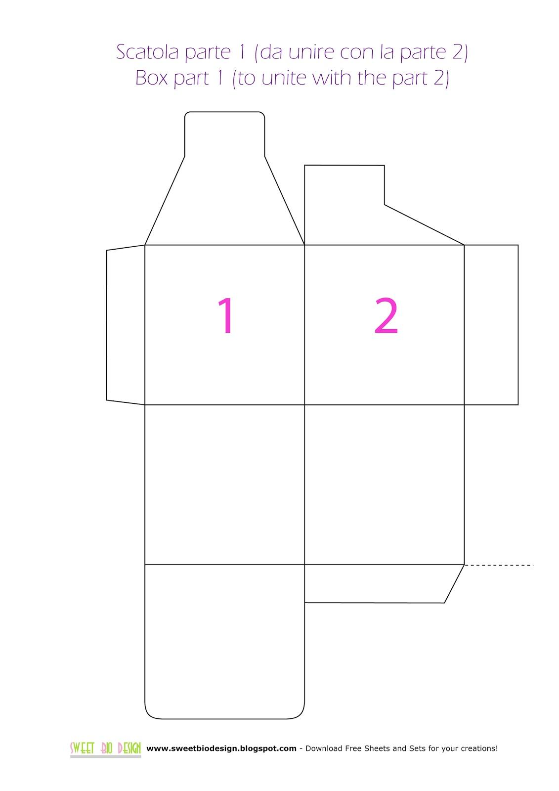 Sweet bio design tutorial scatolina di carta con for Come costruire i passaggi della scatola