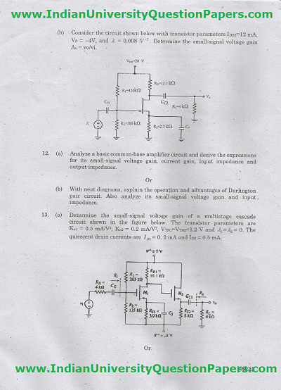EC6304 Electronic Circuits I Nov Dec 2016 Question Paper